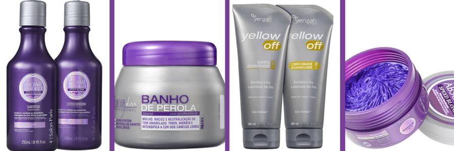produtos para cabelos platinados